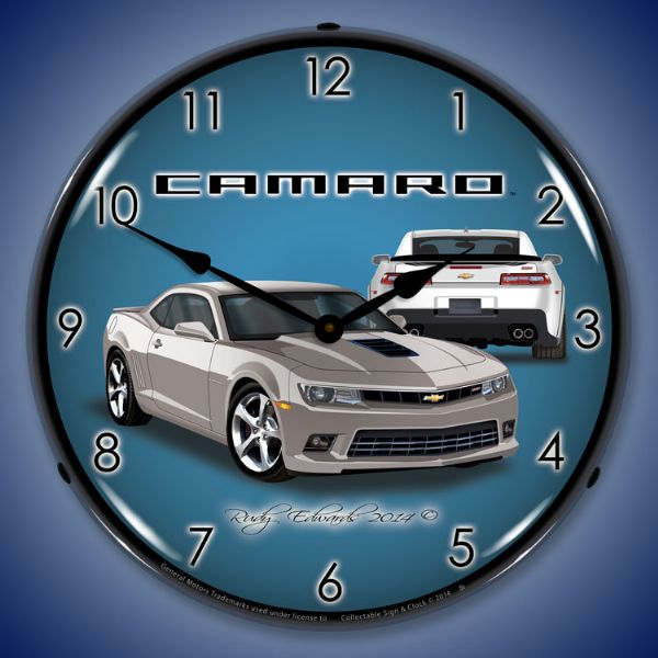 2014 Camaro Silvers: Custom Lighted Advertising Clocks
